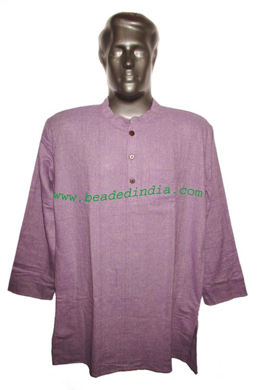 full sleeve long khadi yoga kurta, size : chest 48 x height  - full sleeve long khadi yoga kurta, size : chest 48 x height 34 inches (large).