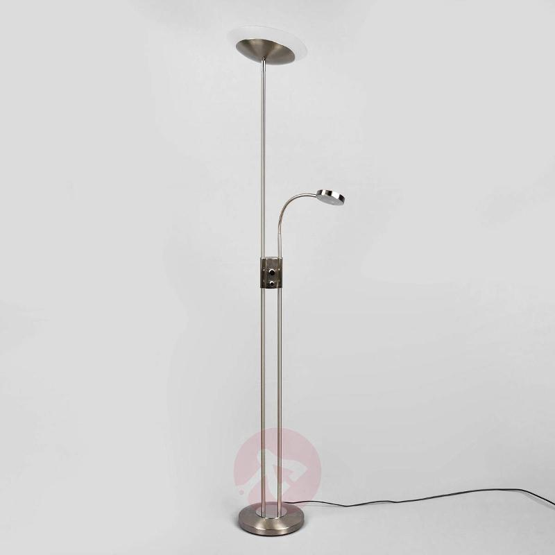 Olivia - dimmable LED uplighter with reading light - Floor Lamps