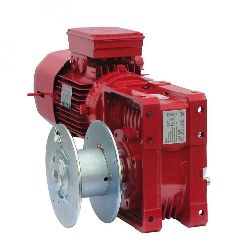 Electric Rope Winch ESF - Electric Rope Winch ESF, 150 kg up to 500 kg, short drum for up to 26 m rope