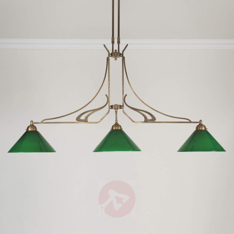 ELLA hanging light made of brass, handmade - design-hotel-lighting