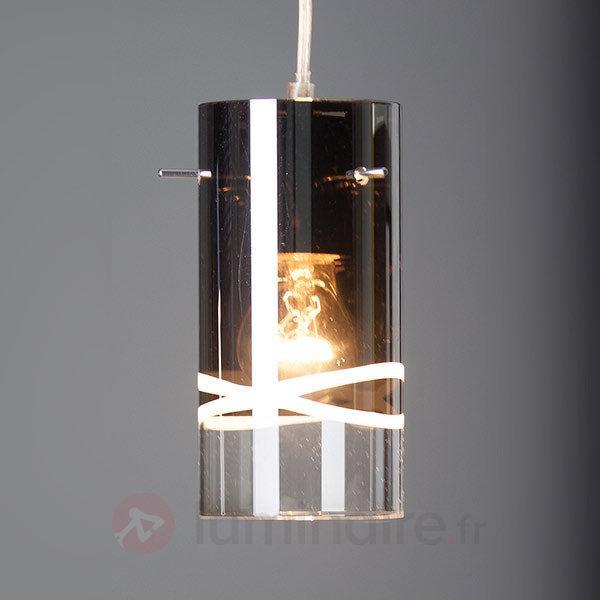 Suspension Carlow chromée à 1 lampe - Cuisine et salle à manger