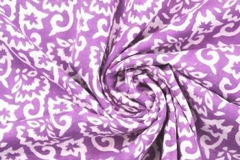 Indian Hand Block Flower Print Fabric Cotton Jaipuri Fabric