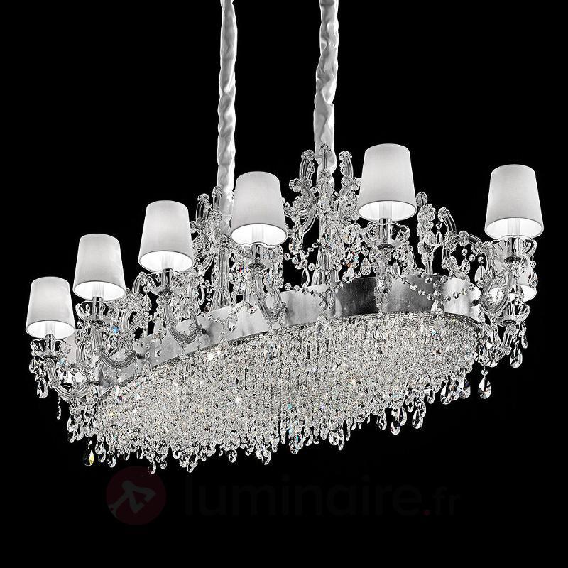 Lustre Philina richement décoré à 12 lampes - Lustres à abat-jour