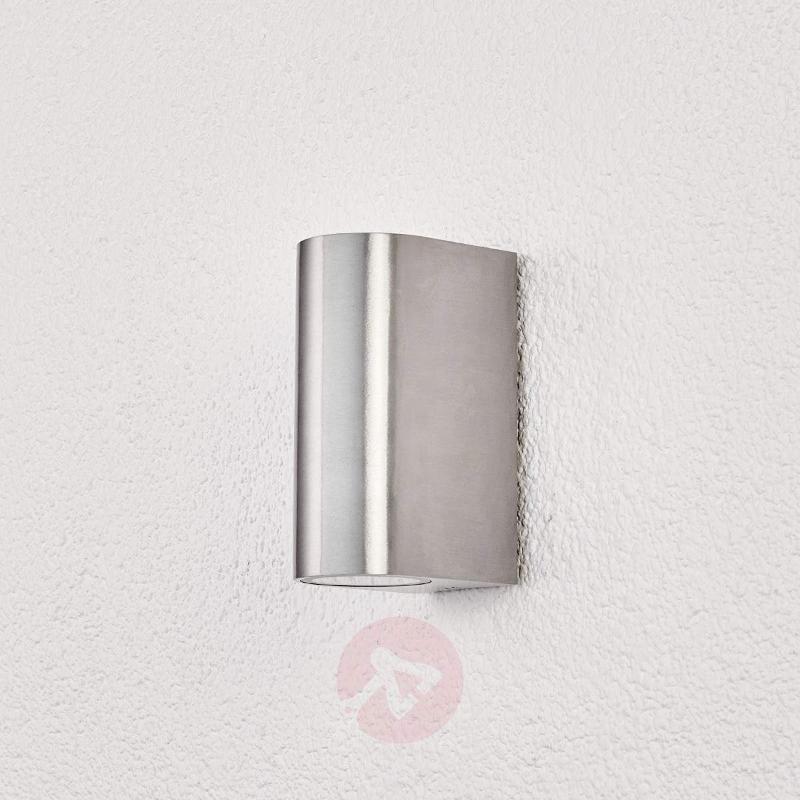 2-light aluminium outdoor wall lamp Idris - Outdoor Wall Lights