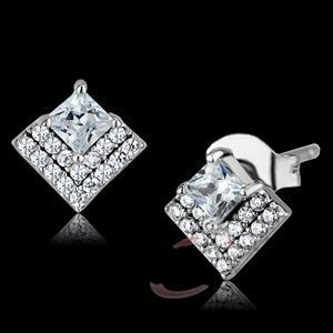 Fashion Earrings - 925 Sterling Silver AAA Grade CZ Earrings