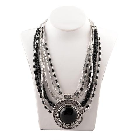 Handmade Bohemian Pendant Necklace - Zephyrr Fashion Beaded Pendant Necklace for Women Handmade Bohemian