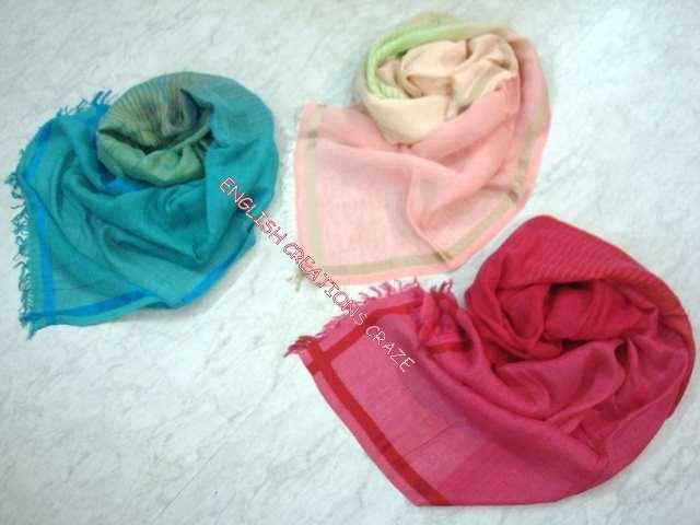 Cotton Blend Scarves - Cotton Blend Scarves