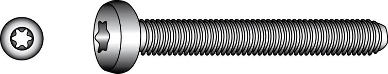 Flachkopfschrauben mit TX-Innensechsrund-Antrieb - Material A2 | A4
