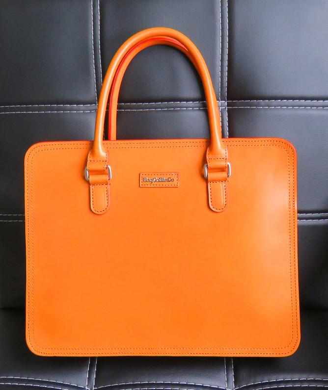 Baggo Bingo Uni Messenger Handbag Business Bag Vegetable Tanned Leather Briefcase Custom