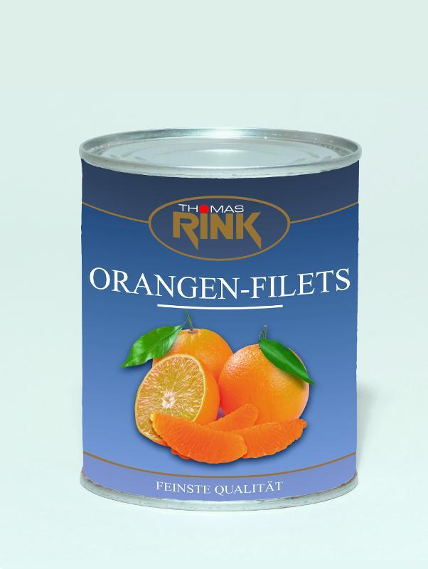 Orangen-Filets, 3 kg, leicht gezuckert - null