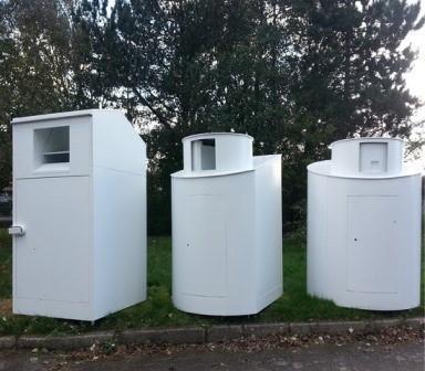 Container zur Kleiderwiederverwertung - abmontierbare Textiliencontainer