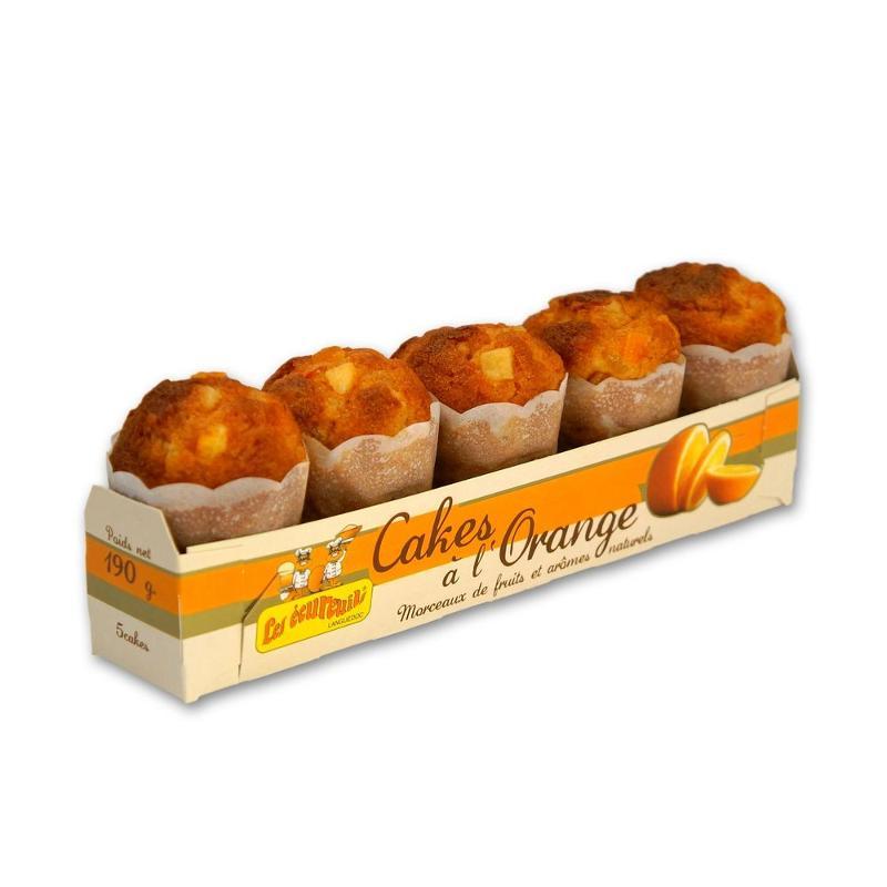 BARQUETTE DE 5 CAKES A L'ORANGE - Épicerie sucrée