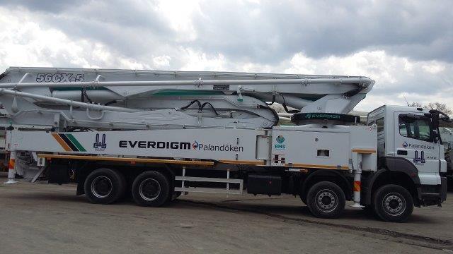 Beton Pompasi - Everdigm ECP 56 CX 5 Boom Concrete Pump