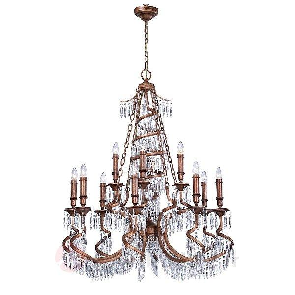 Lustre de couleur bronze Twisted - Lustres en cristal