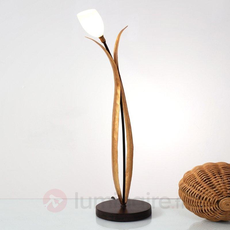 Lampe à poser florale Elisa à 1 lampe - Lampes à poser style florentin