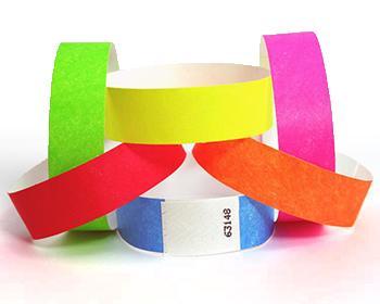 Bracelet Tyvek® - Bracelet en papier indéchirable non marqué