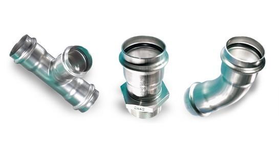 SANHA Системы трубопроводов для любых целей NiroSan® - фитинг из нержавеющей стали, AISI 316L, EPDM