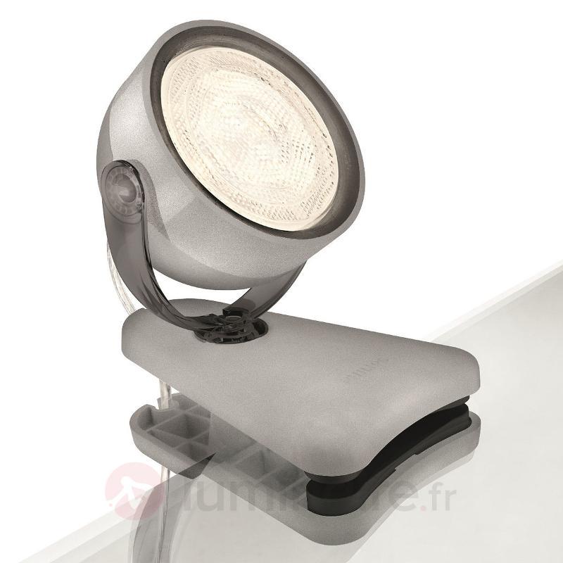 Lampe à pince LED Dyna gris - Lampes à pince