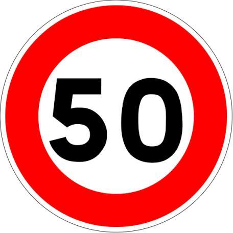 Panneau B14 Limitation De Vitesse - Balisage De Chantier Et Panneaux Routiers