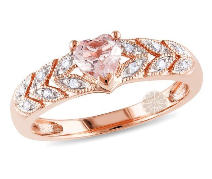 Rose Gold Heart Ring -