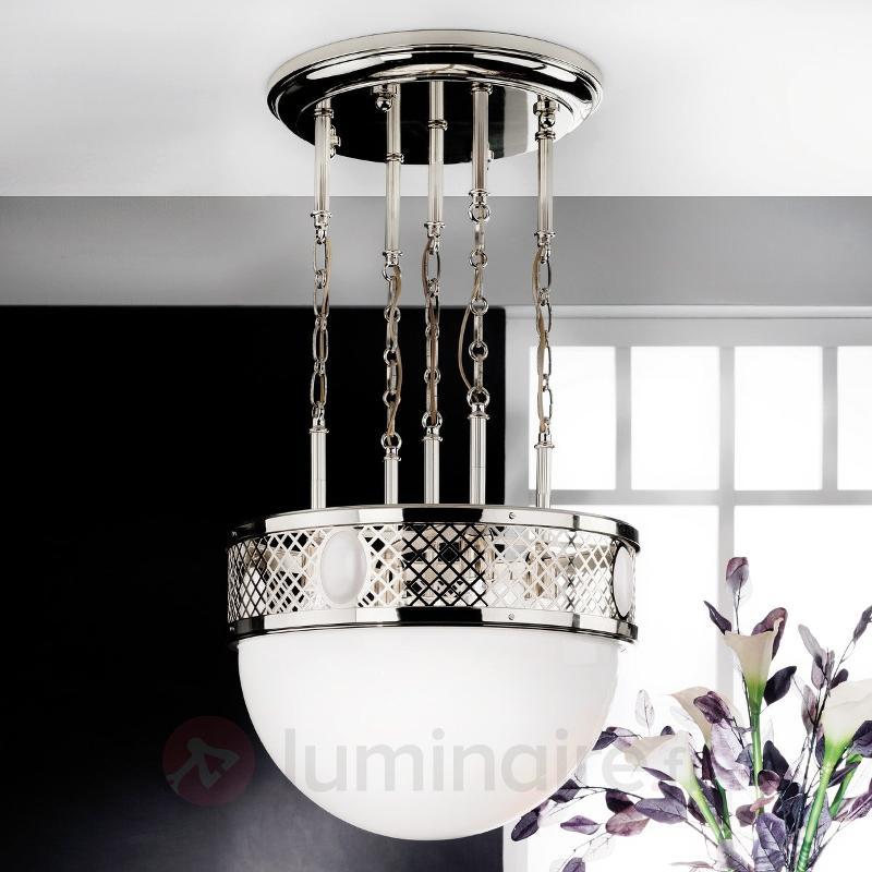 Grande suspension Alt Wien nickel brillant - Suspensions classiques, antiques