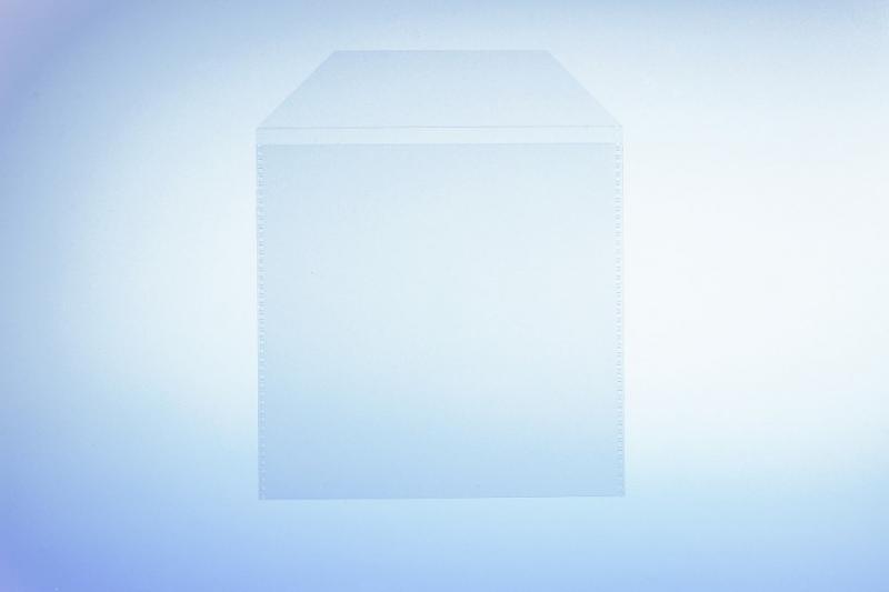 Klarsichttasche für 1 Disc - mit Klappe - 100er Pack - Retailverpackungen & Zubehör