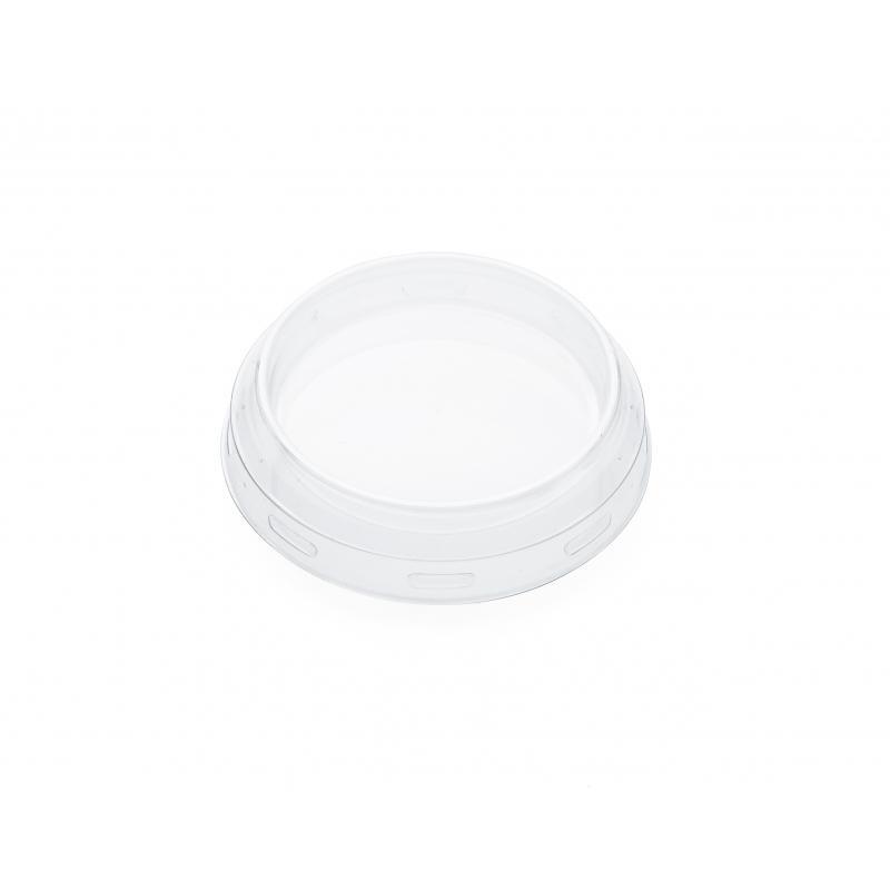 24 Coiffes diamètre 60 mm en plastique transparent PET  - pour bocal WECK
