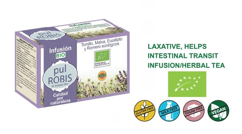 Pul Robis Bio - Laxative, helps intestinal transit, infusion/herbal tea