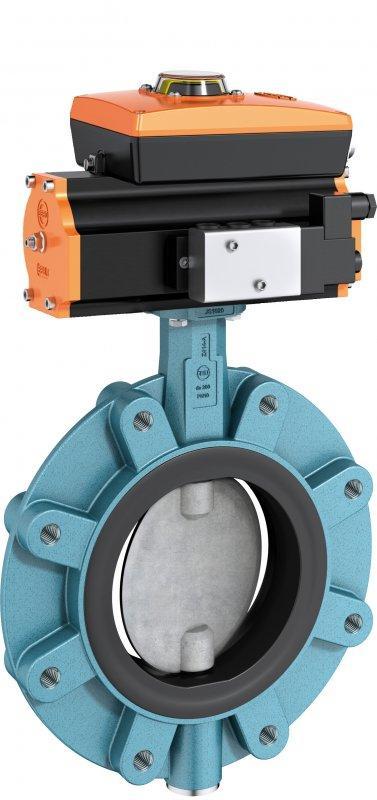 Vanne d'arrêt et de contrôle type Z 414-A - Vanne papillon à étanchéité souple adaptée pour tuyauterie PE/PP.