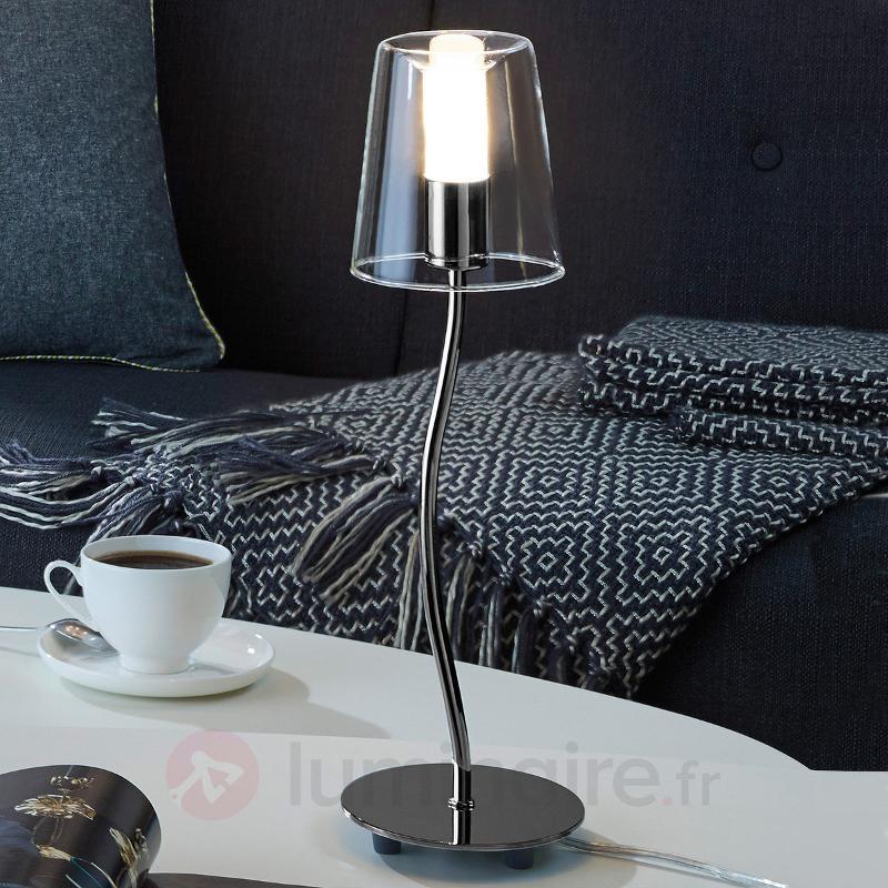 Lampe LED à poser ondulée Noventa - Lampes à poser LED