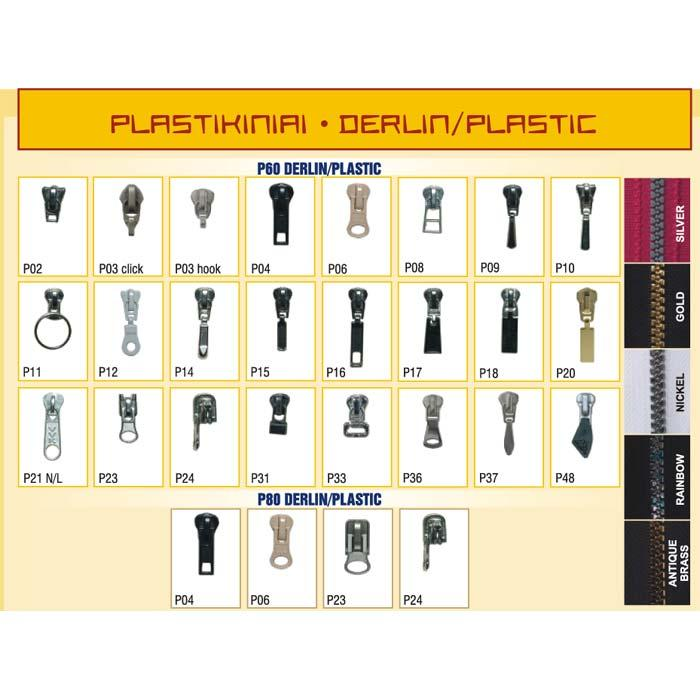 PLASTIC ZIPPERS - Plastic 6 mm P60 zippers.