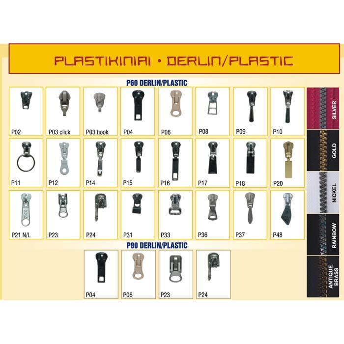 PLASTIC ZIPPERS - Plastic 6 mm P60 zippers.