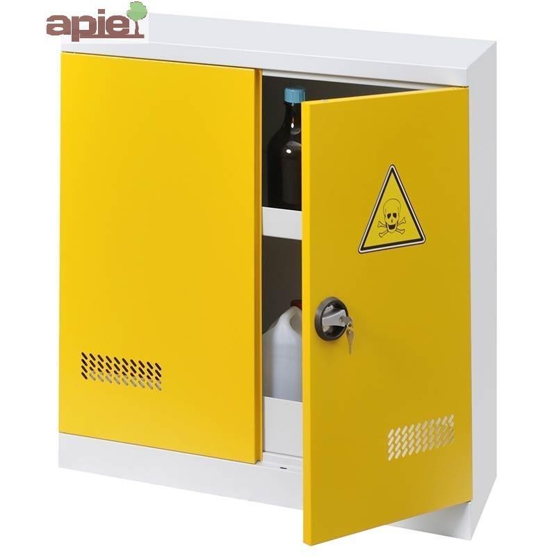 Armoire de sûreté AVEC EXTINCTEUR modèle comptoir à 2 portes - Référence : ASN TML+EA