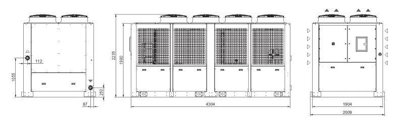 Tcwr2÷z0 Grandezza 7 Refrigeratori Industriali Per Acqua - LINEA REFRIGERAZIONE