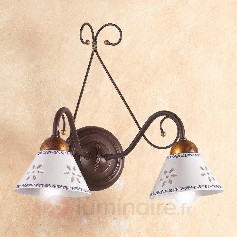 Applique 2 lampes LIBERTY - Appliques rustiques
