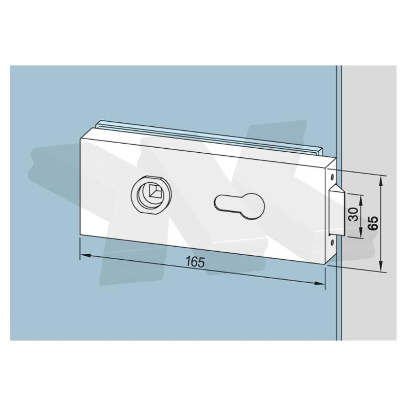 """Lock angular, ready for profile cylinder, WITHOUT lever - Locks """"Dormakaba"""""""