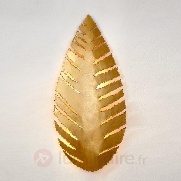 Applique Pietro en forme de feuille - Appliques en laiton/dorées