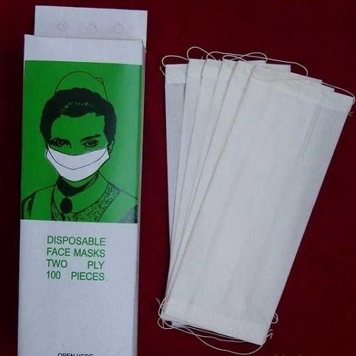 Masque de papier double couche -