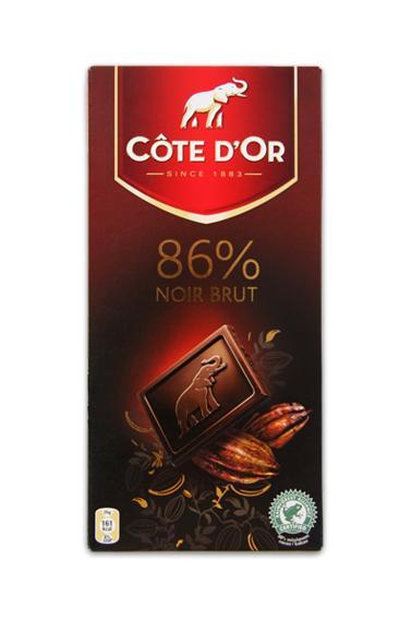 CÔTE D'OR Noir brut 86%