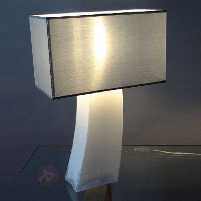 Fascinante lampe à poser SABRINA pied opale - Lampes à poser en tissu