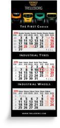 3-Monatsplaner - 3-Monats-Wandkalender Maxi grau