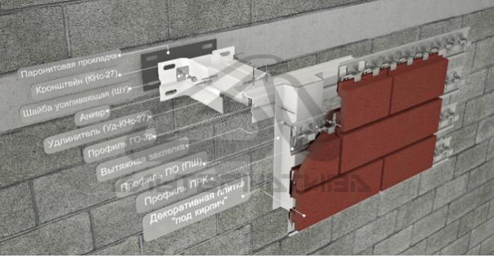 """Альт-Фасад 11 - Для облицовки декоративными плитками """"под кирпич"""""""