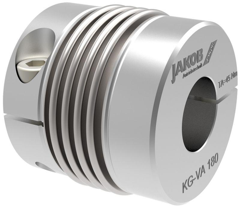 Miniature metal bellows coupling MKG-VA - Miniature metal bellows coupling MKG-VA - stainless steel version