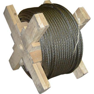 Câbles spéciaux - Câble pour ascenseur 8x19S en acier clair