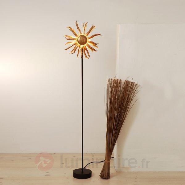 Charmant lampadaire SONNE doré - Lampadaires design