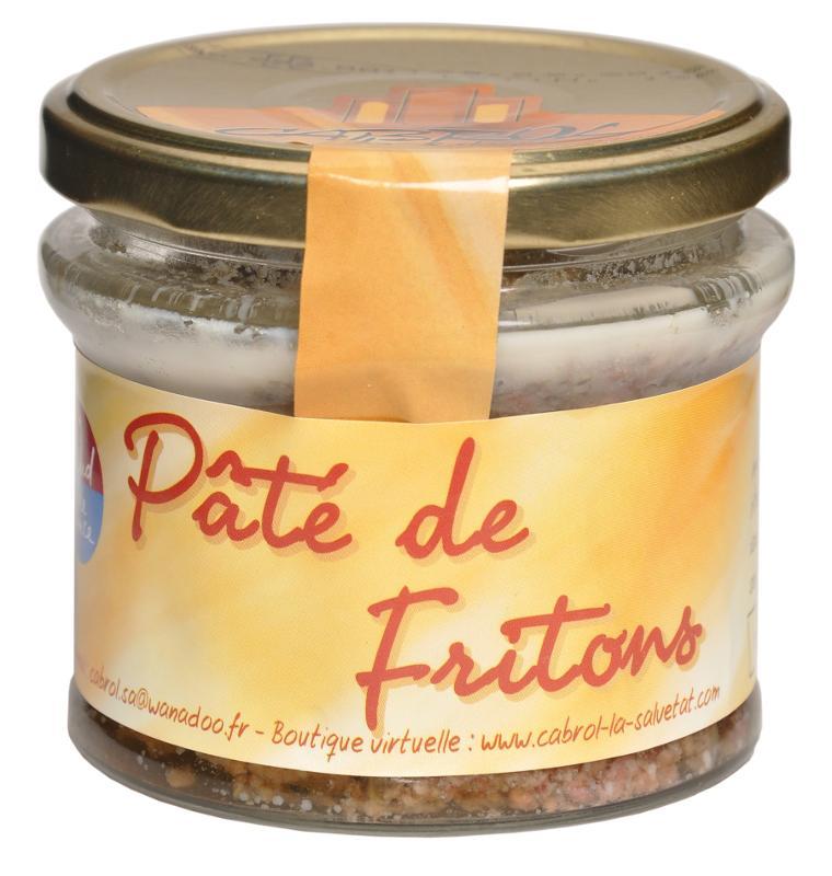 """Pâté de Fritons """"CUIT AU CHAUDRON DE CUIVRE"""" (bocal en... - Epicerie salée"""