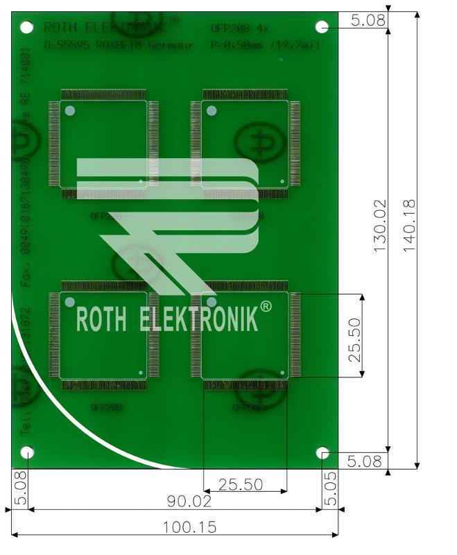RE714001-LF - PCB for SMT Solder Practice