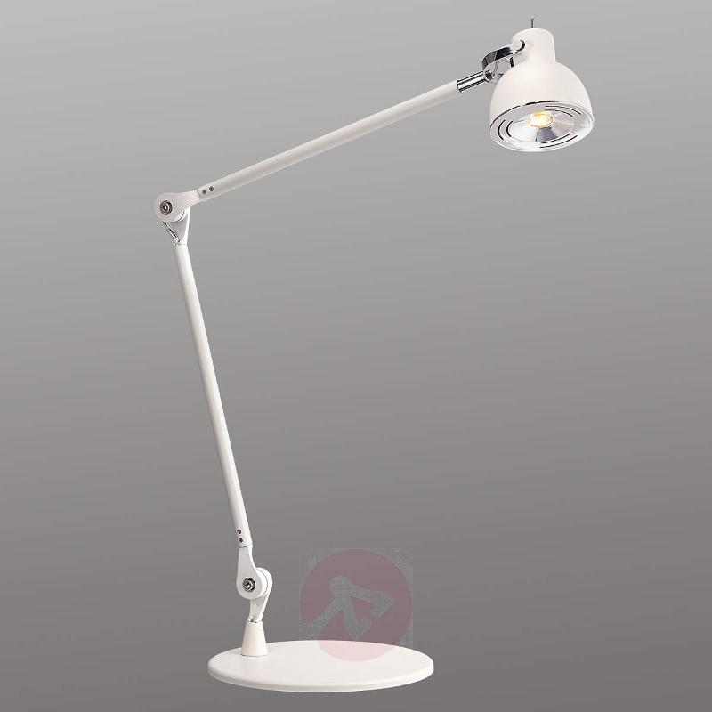Duett - a flexible LED table lamp in white - Table Lamps