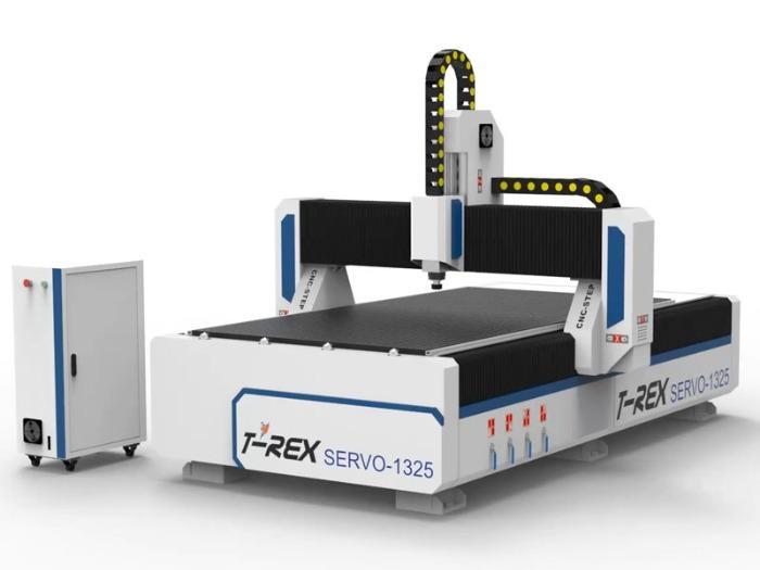 Servo Fräse T-Rex Servo-1325 - CNC Portalfräsmaschine mit manueller Zentralschmierung, Bedienpult & Vakuumtisch