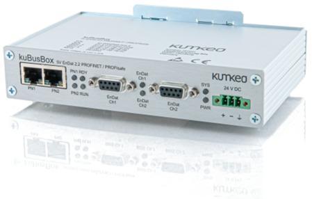 Protokollkonverter kuBusBox BiSS Safety > PROFINET / PROFIsa - Plattform für die Einbindung von Sensoren und Aktoren